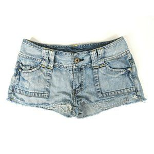 American Eagle Jean Shorts Womens 0 Distressed